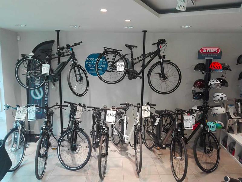 Nos vélos électriques tout-chemin (Kalkhoff, Focus, KTM) au magasin AC-Emotion Bastille, 7 boulevard Beaumarchais 75004 Paris